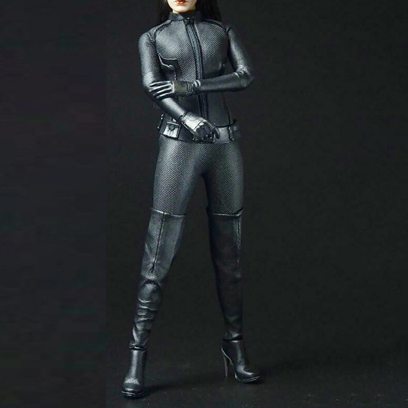 Sexygirl <font><b>1/6</b></font> <font><b>Scale</b></font> accessories Cool Black Suit CATWOMAN Catherine Clothing Outfit Set F 12