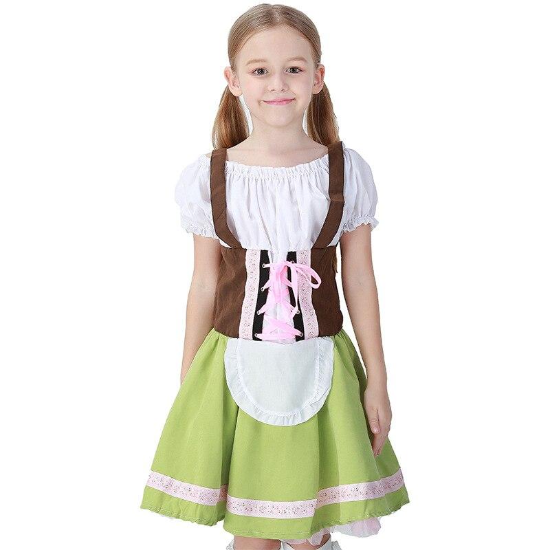 German Oktoberfest Girl's Dress Halloween Party Cosplay Costume