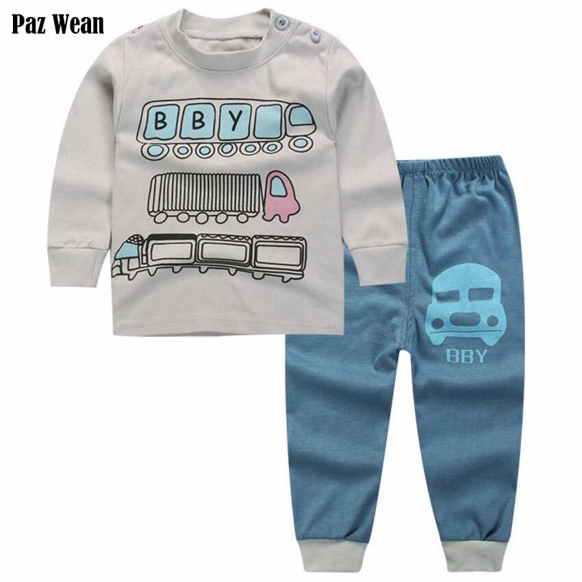 2t 3 Year toddler boy pajamas child infant shirt pants set boy sleeping wear sleepwear pyjama baby sleep and play set nightdress