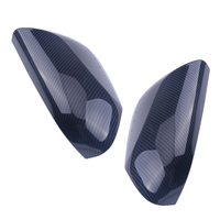 CITALL 1 Pair Black Carbon Fiber Style Car Side Door Rearview Mirror Cover Trim For Toyota Camry 2018 Car Styling