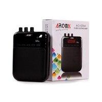 Aroma AG-03M 5 W MINI Draagbare Gitaar Amp Recorder Speaker Tf-kaart Multifunctionele Met Vervorming & Clear Gitaar Versterker EQ spelen