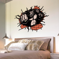 NEW Large 3d Cosmic Chimpanzees Animal Wall Sticker Star Home Decoration For Kids Room Floor Living Room Wall Decals Home Decor1