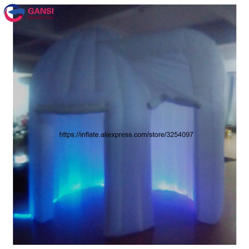 Cabine gonflable de photo de la publicité/tente gonflable extérieure du cube 3D pour la photocabine gonflable de tissu de photo d'oxford