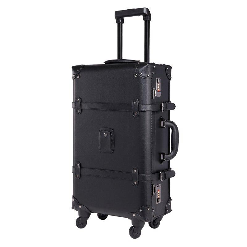 Женская сумка на колесиках GraspDream, винтажный кожаный чемодан в стиле ретро, дорожная сумка на колесиках для мужчин и женщин|Чемоданы|   | АлиЭкспресс