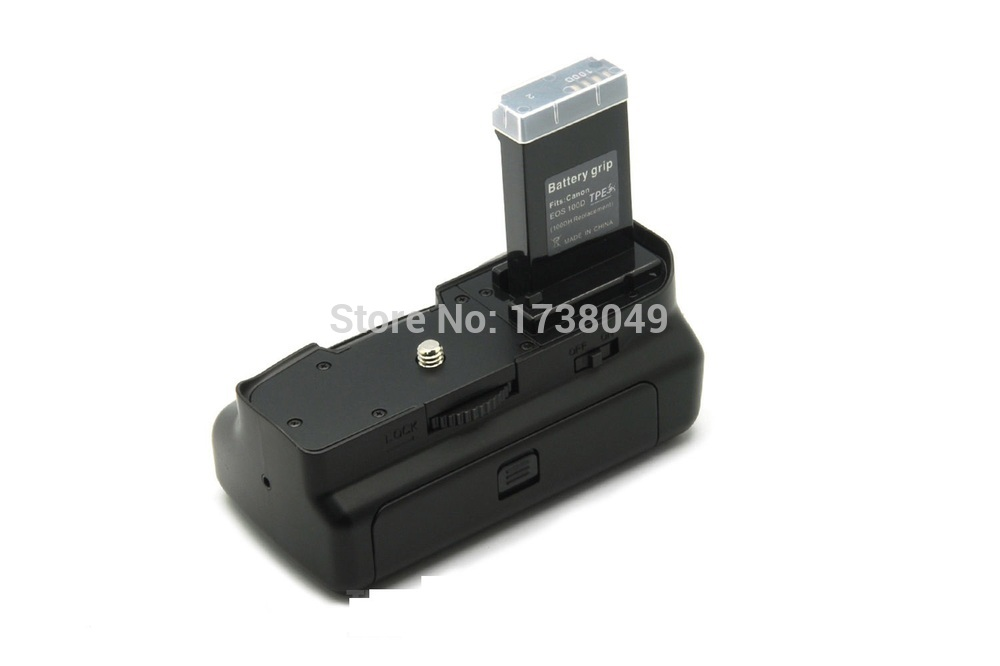 Battery Grip Pack for Canon EOS 100D Rebel SL1 DSLR Camera Use LP-E12 Battery White IR Remote Control 1x Grip