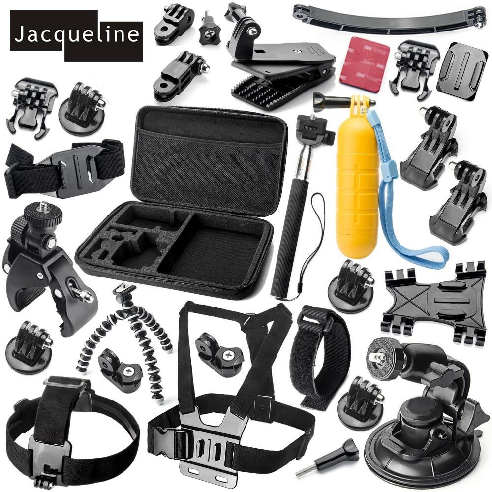 Jacqueline pour Gopro hero 5 4 3 + accessoires Kit de montage pour Sony Action Cam AS200V FDR-X1000V W 4 K AS30V AS100V HDR-AZ1 Mini