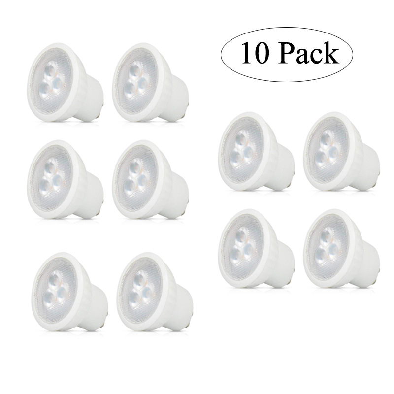 <font><b>10</b></font> Pack Super Bright Mini <font><b>3W</b></font> GU10 MR11 <font><b>LED</b></font> Bulb AC85-265V 35mm <font><b>Led</b></font> Spotlights Warm white cold white <font><b>GU</b></font> <font><b>10</b></font> <font><b>LED</b></font> lamp SMD 2835 image