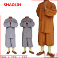 New 3 colors Shaolin Temple Costume Zen Buddhist Robe Buddhist monk robes gown religion Monk clothing HaiQing uniforms for monk