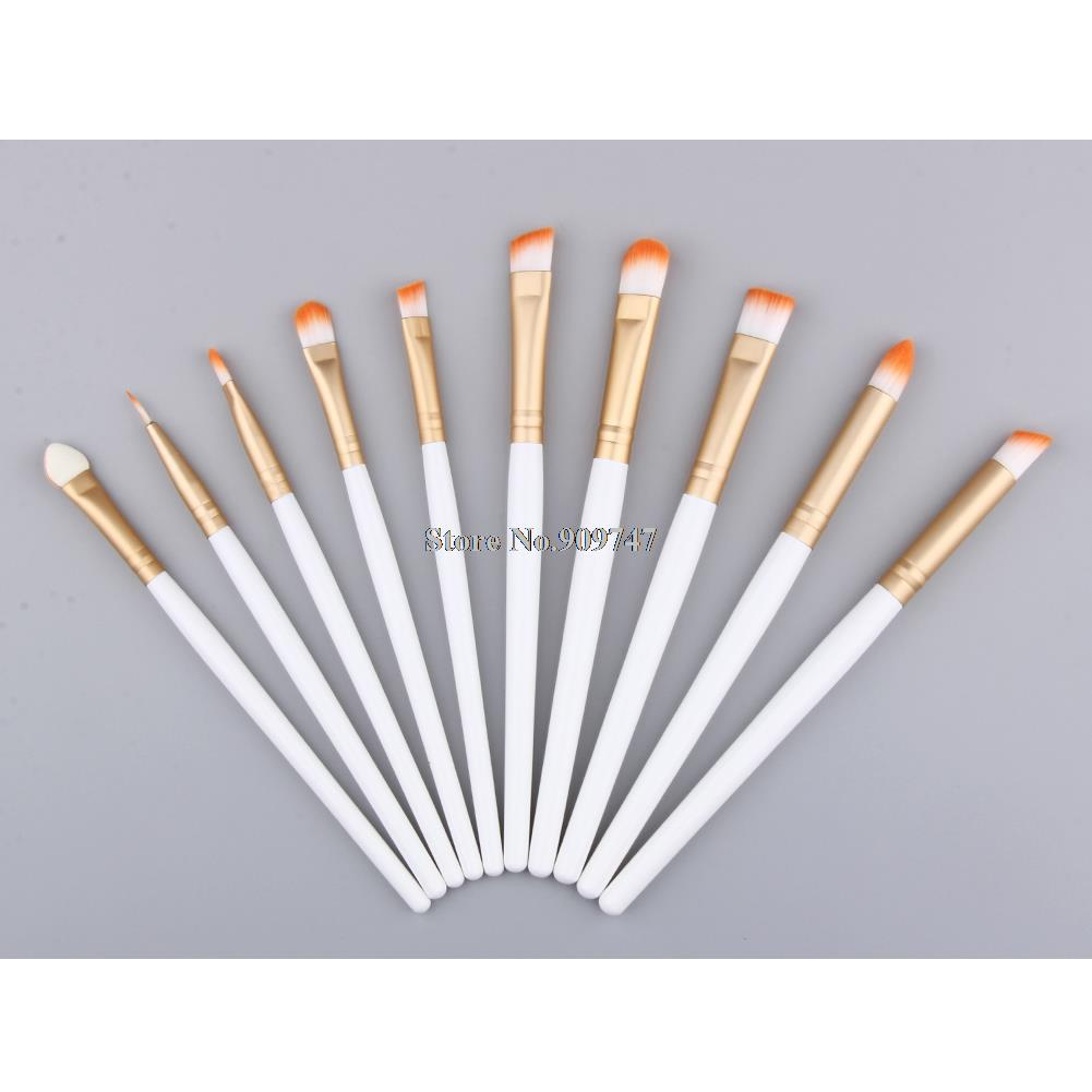 цены  10 Pcs/set Golden Makeup Brushes Set Make up Cosmetics Brush Eyeliner Eye shadow Eyebrow Lip Brush Cosmetic Tools