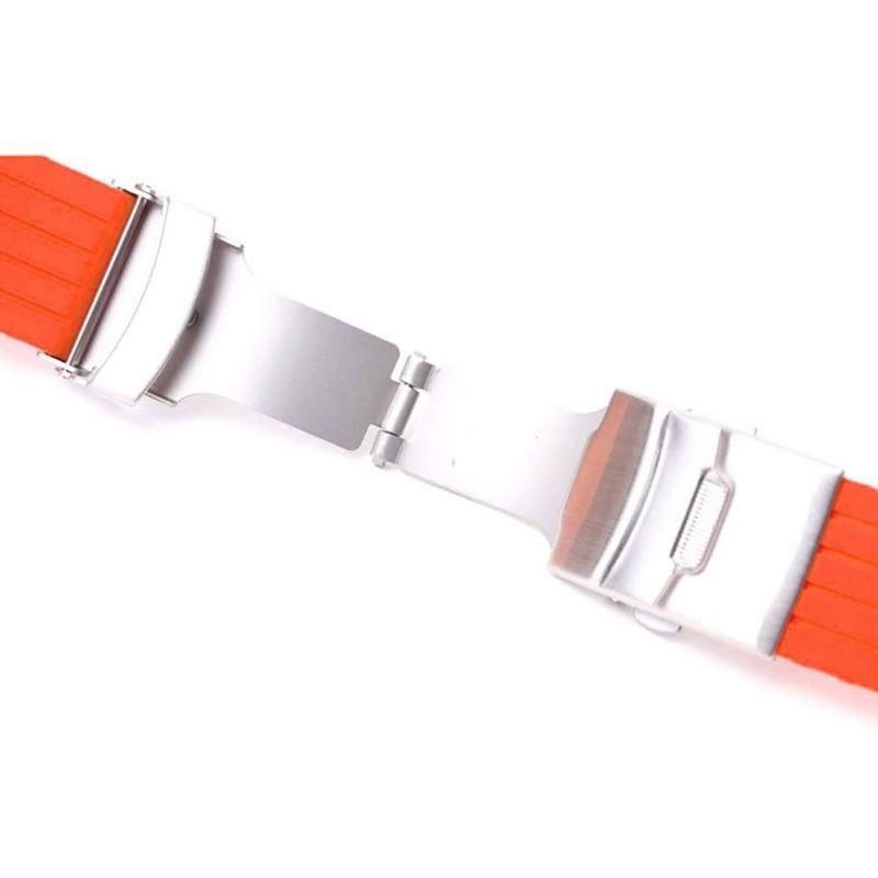 Cauciuc siliconic 16,18, 20, 22, 24mm Curea de desfășurare a - Accesorii ceasuri - Fotografie 5