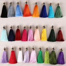 5pcs/lot 70mm Silk Tassels earrings accessories craft tassels for curtain DIY  Crafts Handmade Gift jewelry Making accessories