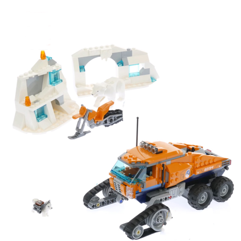 2019 New Citys Arctic Scout Truck Set Compatible City <font><b>60194</b></font> Building Blocks Bricks Kids Toys Birthday Gifts Car Model image