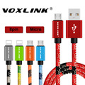 Voxlink USB Кабели для iphone 6 S 5s Кабель Для Передачи Данных Micro Usb Для iphone 6 Plus Samsung S7 S6 Edge Плюс S5 Плетеный Металл Быстро заряда