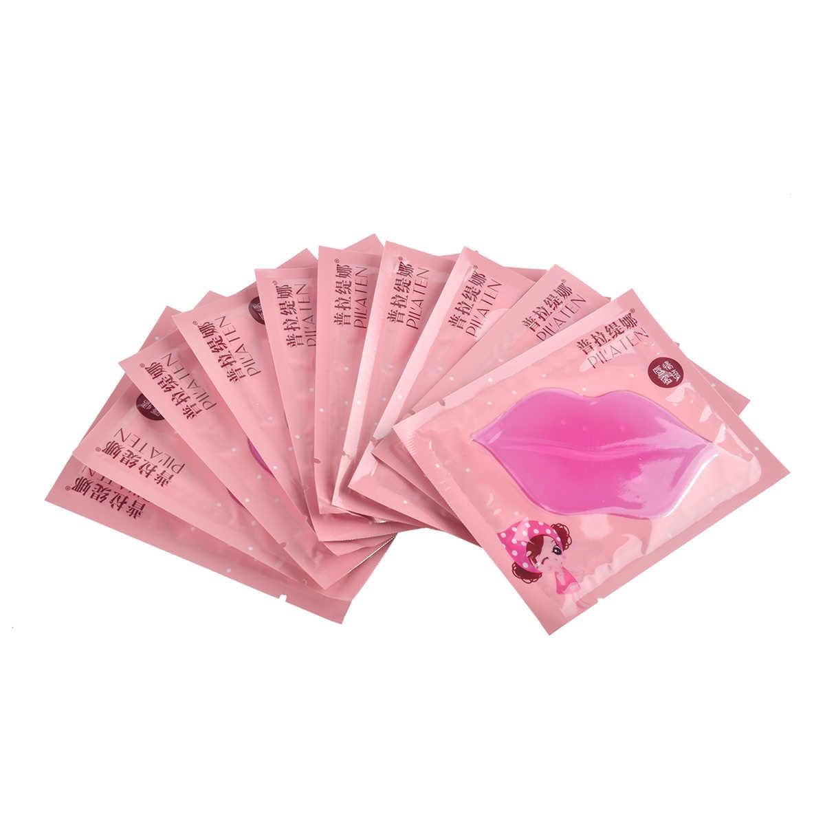 5 יח'\חבילה PILATEN קריסטל קולגן לשפתיים מסכת קולגן חלבון קריסטל נשים חידוש שפתיים סרט שפתיים צבע אנטי פיצוח