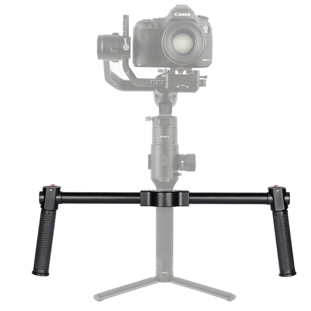 MINIFOCUS Dual Handle Grip Ronin S Handheld Handlebar Kit for DJI Ronin S Extension Stand Mount