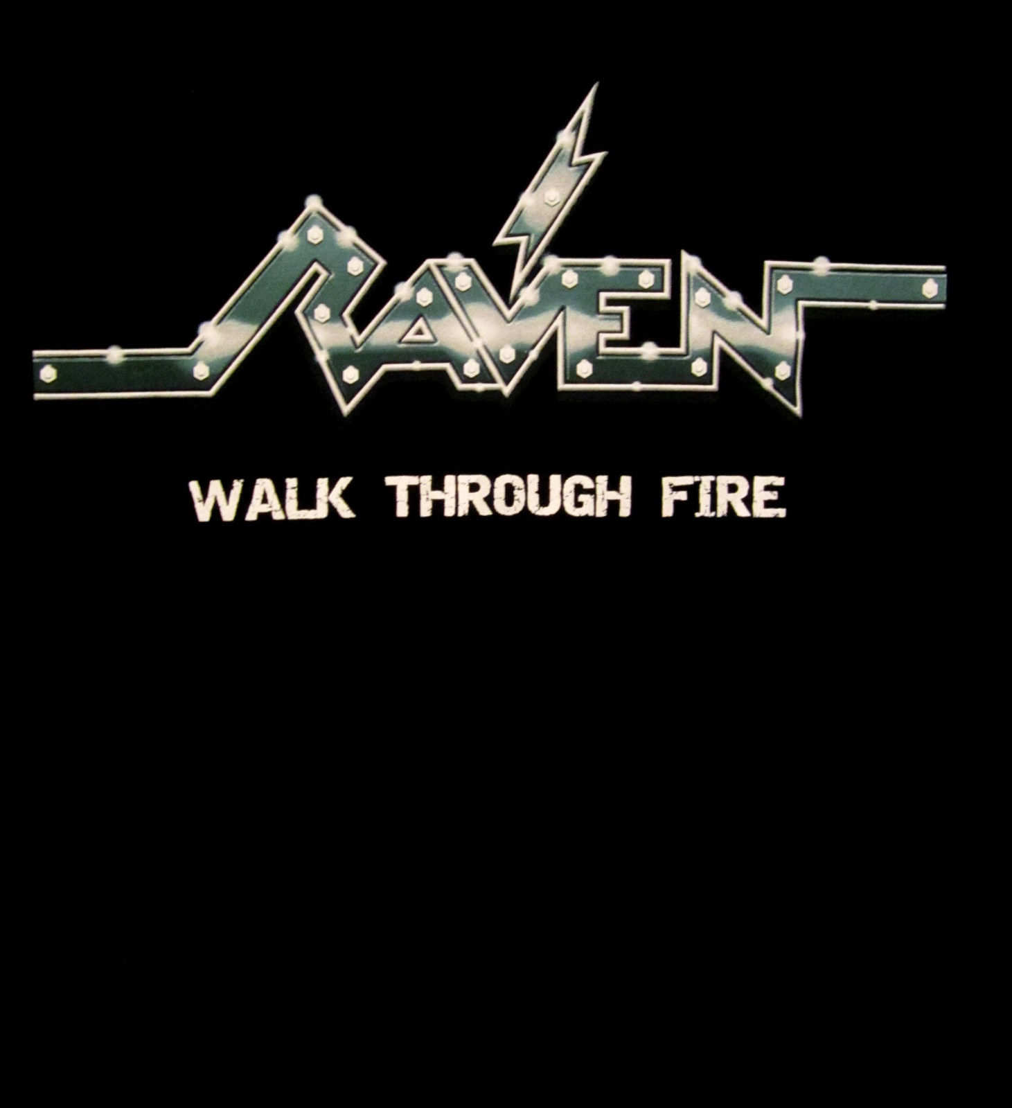 RAVEN cd cvr WALK THROUGH FIRE Official SHIRT XL new