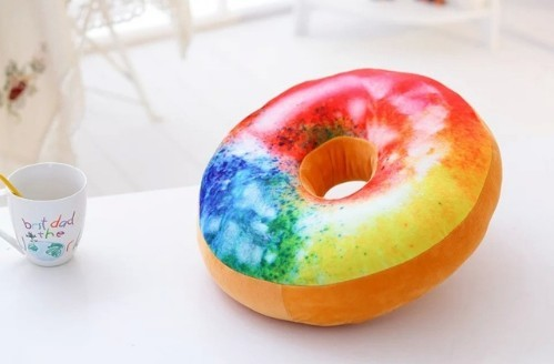 Donut Printed Round Shaped Cushion