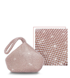 Image 5 - 4 Colors Soft Beaded Women Evening Bag Cover Open Style Lady Wedding Triangle Glitter Handbag Purse Bag For New Year Gift Clutch