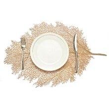 Hoomall, столовый стол, подстилка, лист лотоса, узор, для кухни, растение, журнальный столик, коврики, подстаканники, тарелка, подстаканники, домашний декор