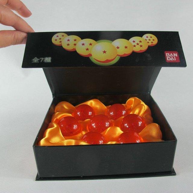 Dragon Ball Z Las Super Esferas Del Dragon En Caja 7 Estrellas Crystal Balls conjunto de 7 unids Juego Completo