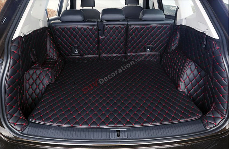 New Interior Rear Cargo Trunk Mat  for Volkswagen VW Tiguan Second Generation 2016 2017 Accessories for vw volkswagen tiguan second generation 2016 2017 interior artificial leather floor carpets foot mat car styling