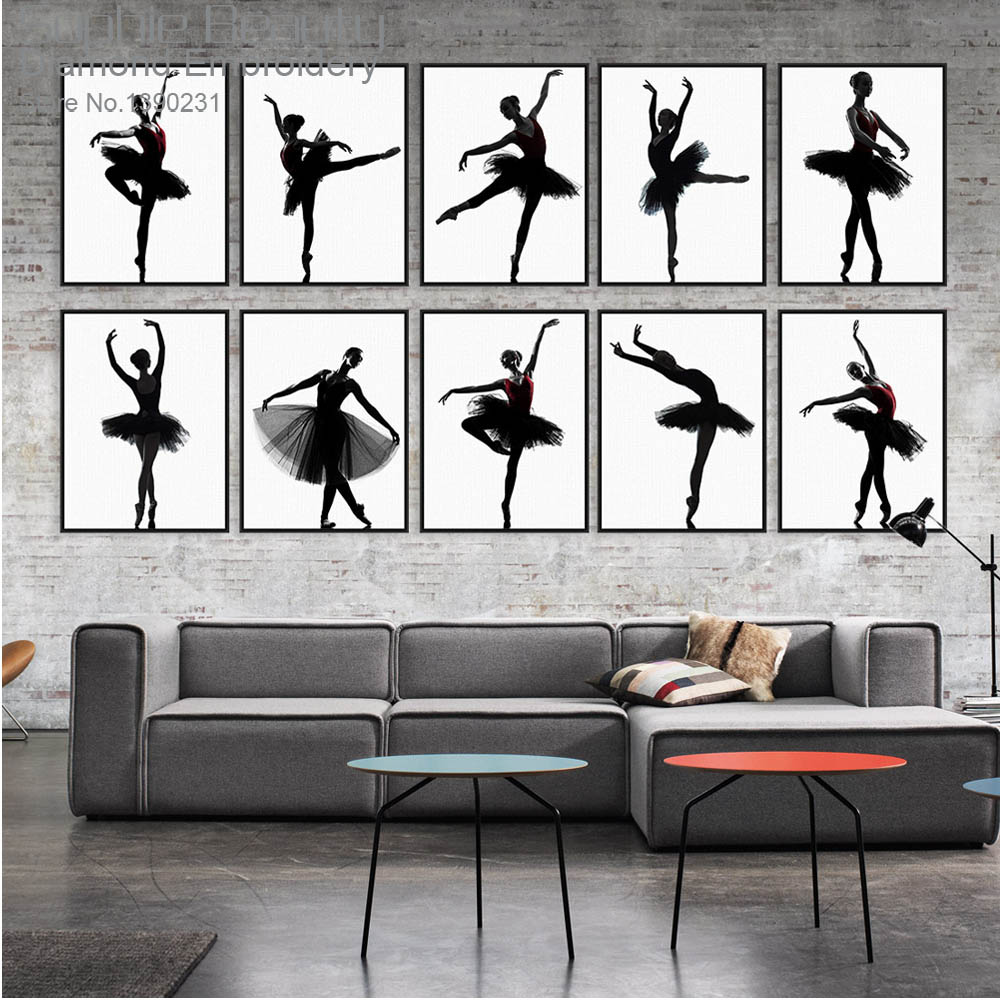 New Dancing Girl Diamond Embroidery Painting Diy Diamond Needlework Cross Stitch Diamond Mosaic Decor Full Drill Rhinestone Set