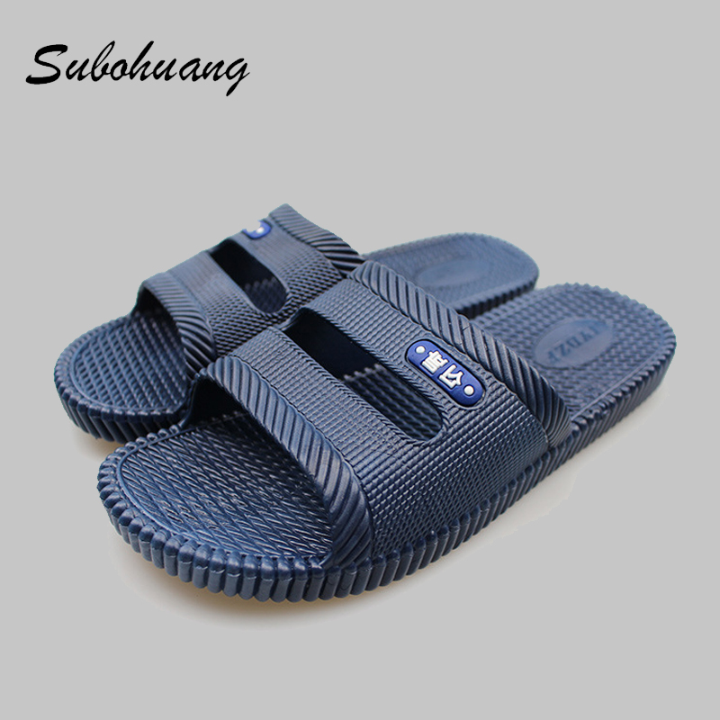 Men's Slippers Beach Sea Leisure Shoes Non-slip Bottom of the Massage Indoor And Outdoor Take a shower Sandals Hot Selling coolsa women s candy color indoor massage slippers lightweight solid eva home non slip massage slippers beach slippers flip flop