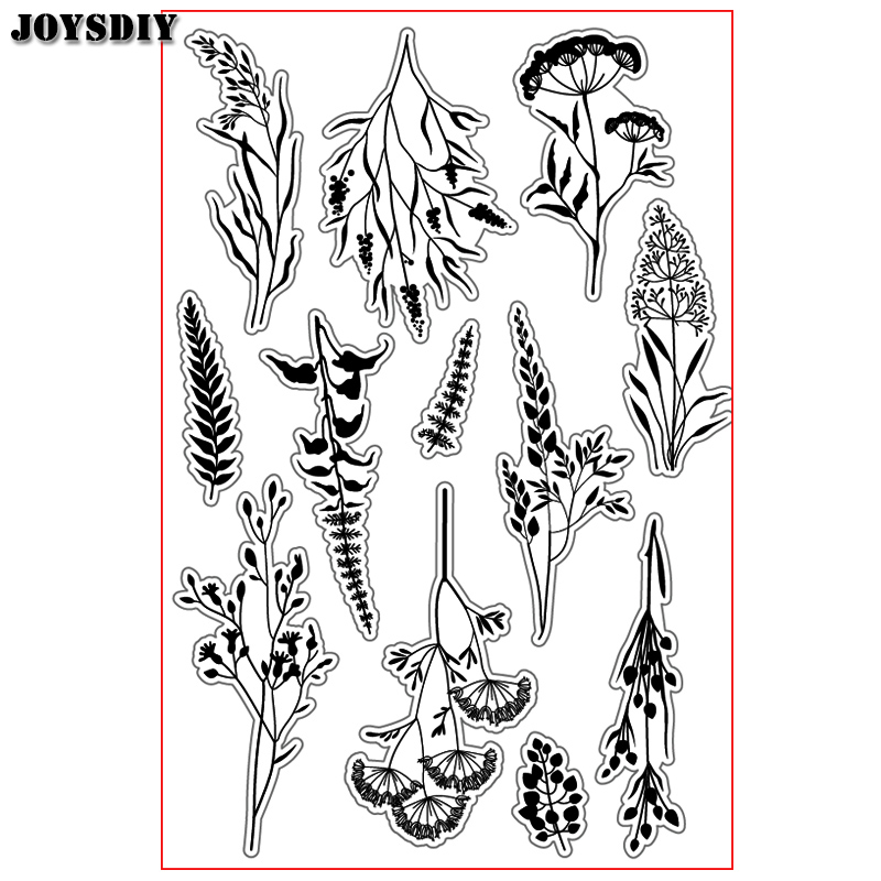 CUTE FLOWERS PETALS LEAVES Scrapbook DIY photo cards account rubber stamp clear stamp transparent  Handmade card stamp JOYSDIY scrapbook diy photo cards account rubber stamp clear stamp finished transparent chapter wall decoration 15 18