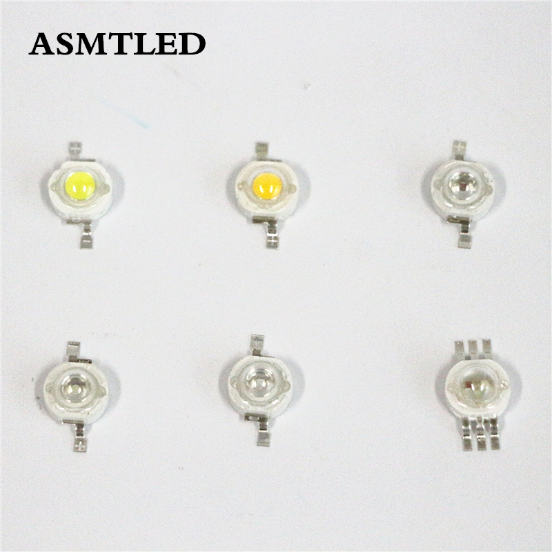 10Pcs/Lot 100Pcs/Lot 1000Pcs/lot High Quality 3.2-3.6V 1W 3W Cold White / Warm White / Red / Green / Blue / RGB LED Light Beads free shipping 2sd965 d965 5a 20v 1w transistor to 92 1000pcs lot