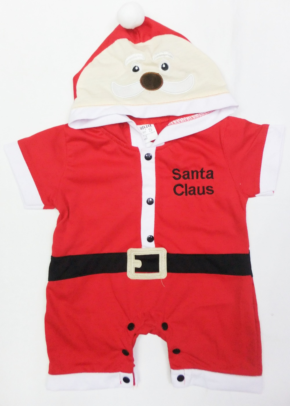 6 months- 2 years short sleeves Baby Santa Claus modelling Halloween Costume,girl & Boy play clothing / Bodysuits