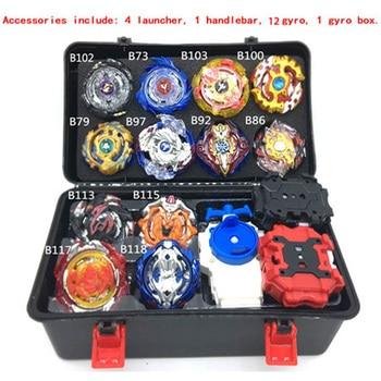 12PCS Beyblade burst Toupie Beyblades Metal Fusion Black Beyblades Set Box bey blade Beyblade Toys For Childn Bayblade beyblade set