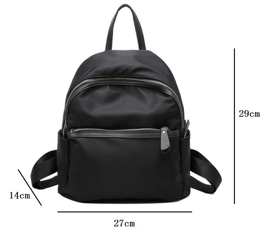 2019 New Women Backpacks Vintage Korea Brand Design Bag Travel Anti Theft Backpack Nylon High Quality Small Rucksack ZZL188