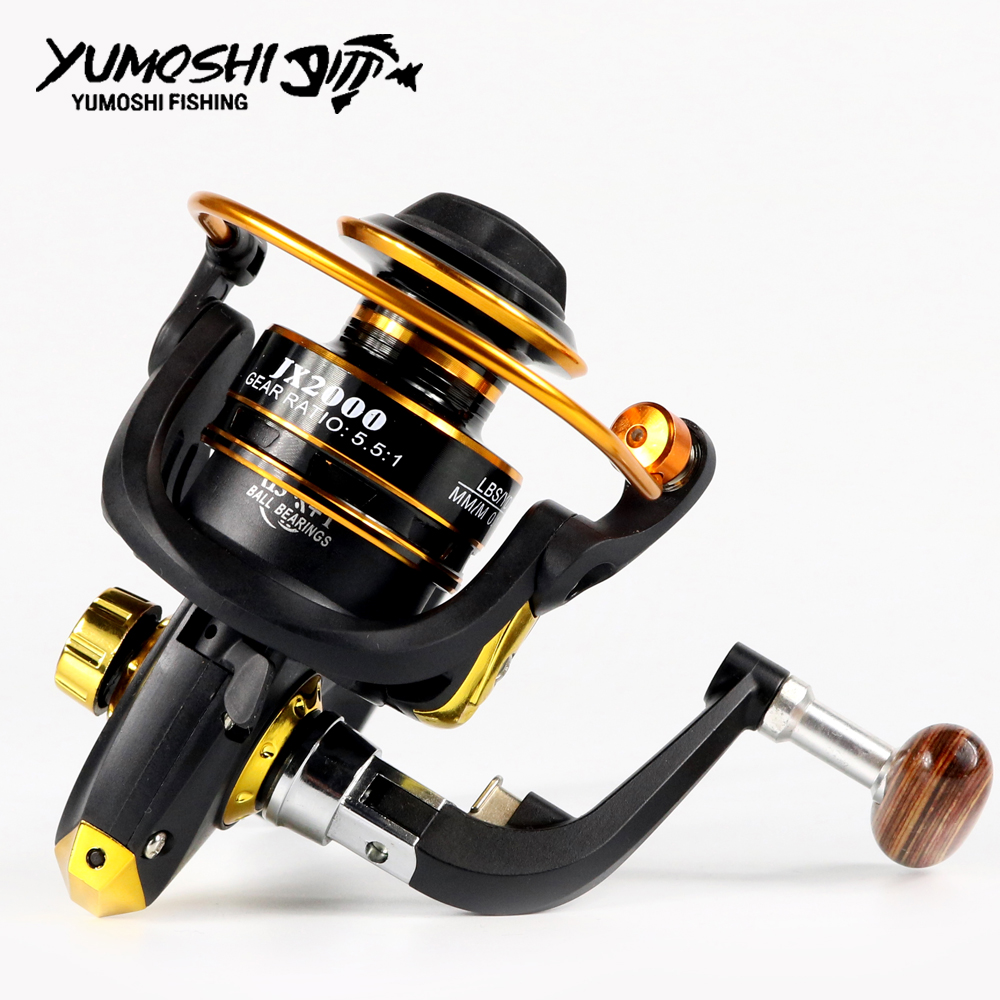 YUMOSHI 13 + 1BB Superior Roda de Metal Spool Spinning Reel Fishing para Água Salgada Em Água Doce Pesca 1000-7000 Série 5.5: 1 roda