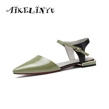 AIKELINYU Womens Brand Sandals 2019 New Summer Fashion Shoes Women Low Heel Lady Party for Girls Big Size 34-43