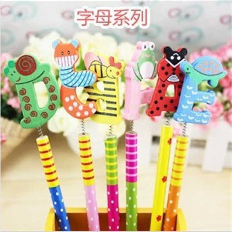 B317日本と韓国文具愛らしい漫画の木製鉛筆/ファッション創造学生の賞品卸売オフィス用品