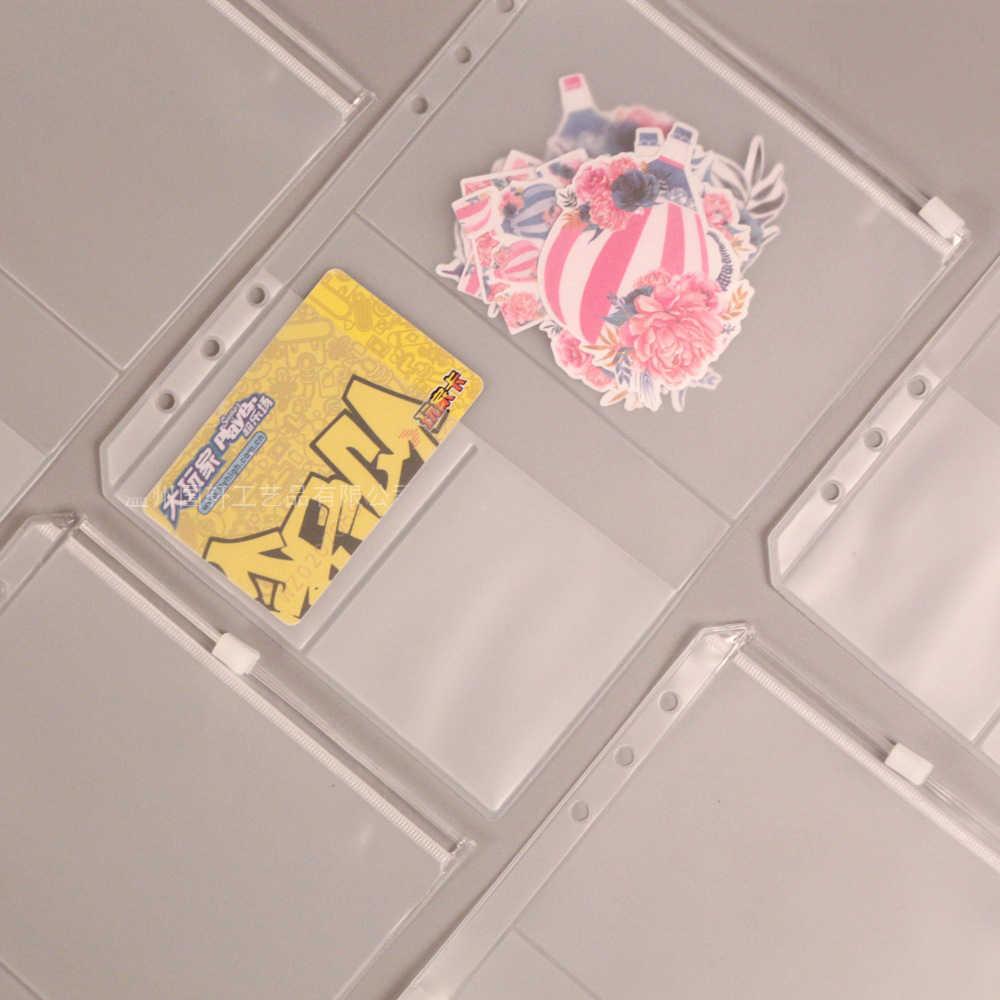Bolsa de almacenaje de cuaderno a5, organizador con nombre y cremallera