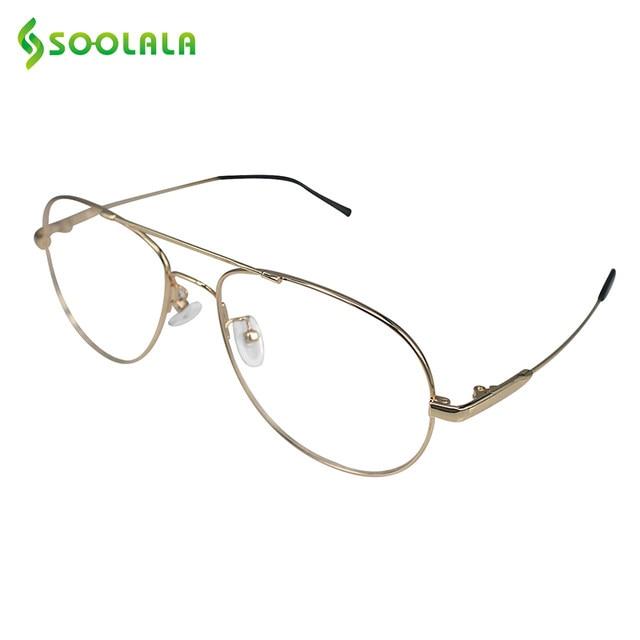 Online Shop SOOLALA Retro Memory Metal Frames Reading Glasses for ...