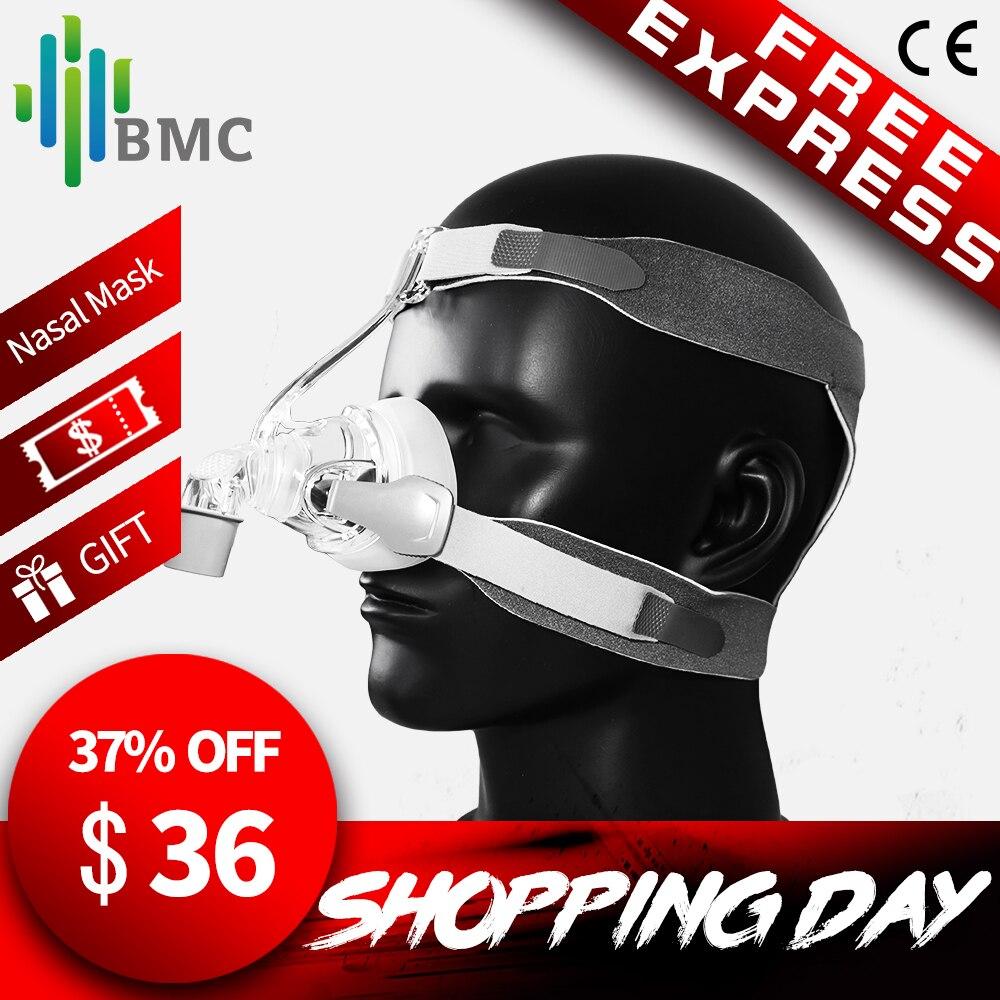 BMC NM4 Masque Nasal CPAP Masque avec Harnais et SML 3 Taille Coussin De Silicium pour CPAP Auto CPAP Sommeil Ronflement apnée Santé & Beauté