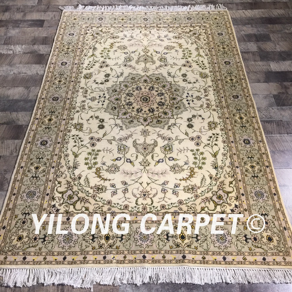 Yilong 4 X6 Handknotted Persian Design Rug Durable
