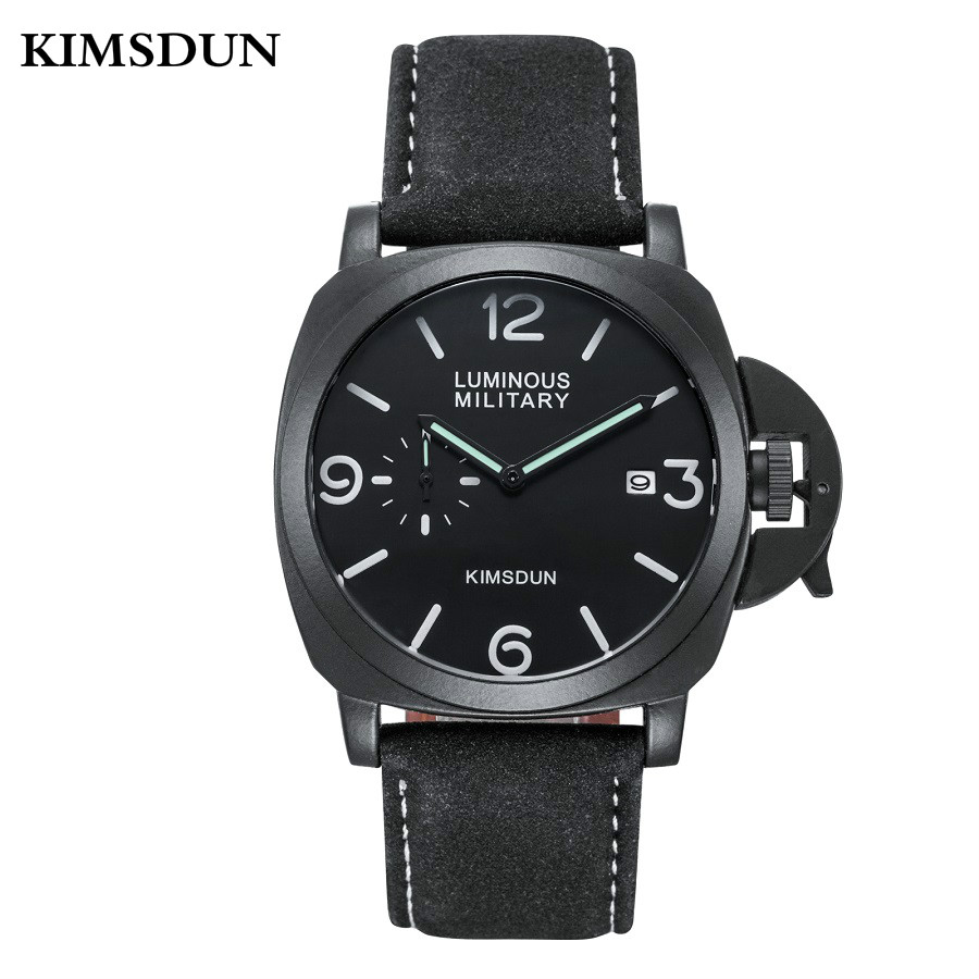 Relogio Masculino KIMSDUN Watches Mens Top Luxury Brand Sport Man Watch Military Leather Business Clock Quartz Wristwatch K711DRelogio Masculino KIMSDUN Watches Mens Top Luxury Brand Sport Man Watch Military Leather Business Clock Quartz Wristwatch K711D