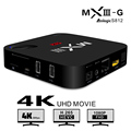 Venda quente! MXIII-G Amlogic S812 Quad core 2 GB de Ram BT Android 4.0 Caixa de TV 2.4 & 5.0 GHz Dual WiFi KODI H.265 MXIII G Caixa Smart TV