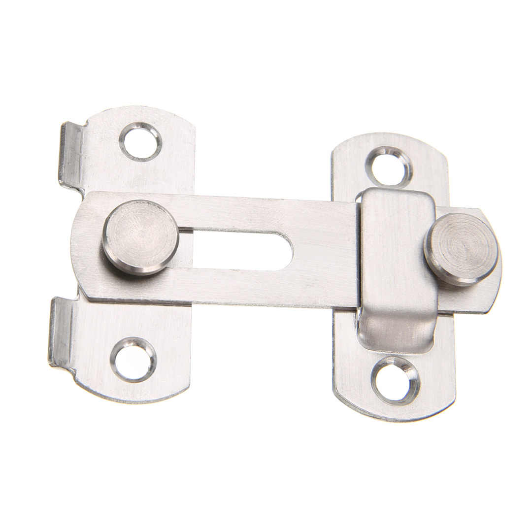 Mayitr 1set Guard Latch Bolt and 4 Screws Sliding Door Lock Handle Stainless Steel Door Latch Home Safety Chain Door Accessories