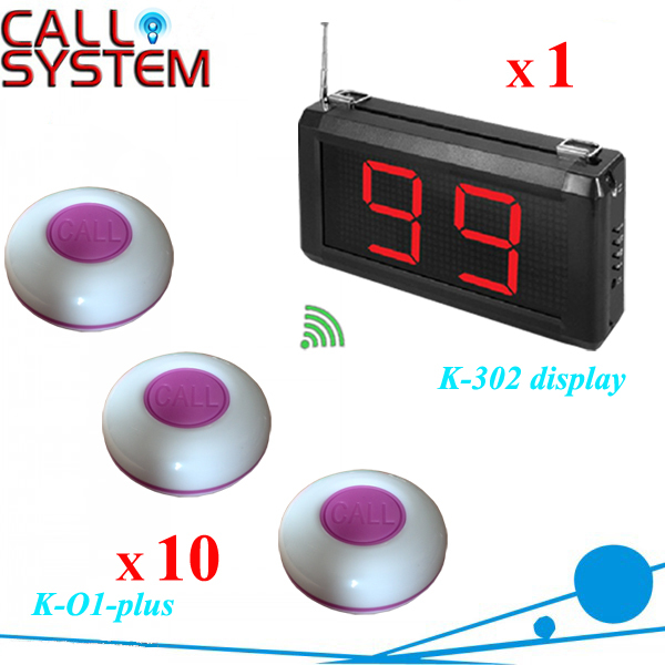 433mhz factory call bell system 1 singal receiver with 10 transmitter for service wireless pager system 433 92mhz wireless restaurant table buzzer with monitor and watch receiver 3 display 42 call button