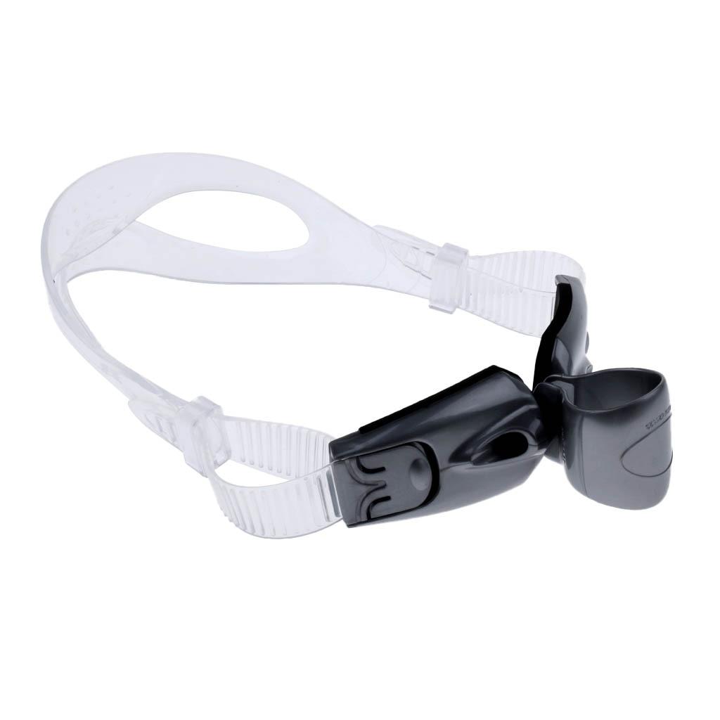 Swim Snorkel Center-Snorkel One-Way Purge Valve Center Mount with Adjustable Head Strap Swimming Technique Training Aid