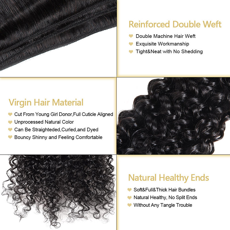 "Malaysian Curly Virgin Hair Bundles 100% Unprocessed Curly Hair Weave Bundles Funmi Malaysian Human Hair Extensions 8-28"""