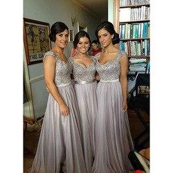 Lange Bruidsmeisjekleding Goedkope Hot Wedding Party Gast Formele Jurk Kapmouwtjes Paars Bourgondië Lavendel Coral Bruiden Meid Jurk