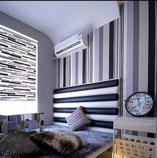 Classic new selling modern black and white and grey stripe wallpaper The sitting room TV setting wall special bedroom wall paper 2016 new best selling the sitting room tv setting wall paper pure pigment color contracted stripe wall paper non woven bedroom