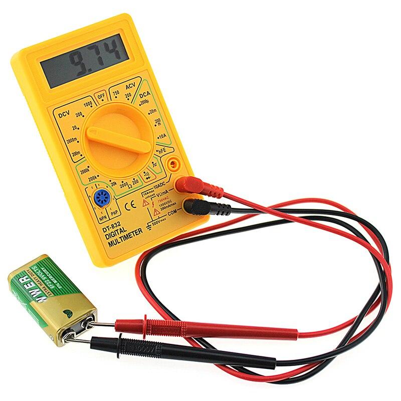 Новый профессиональный цифровой мультиметр DT832 ЖК-дисплей постоянного тока Вольтметр Амперметр Ом тестер