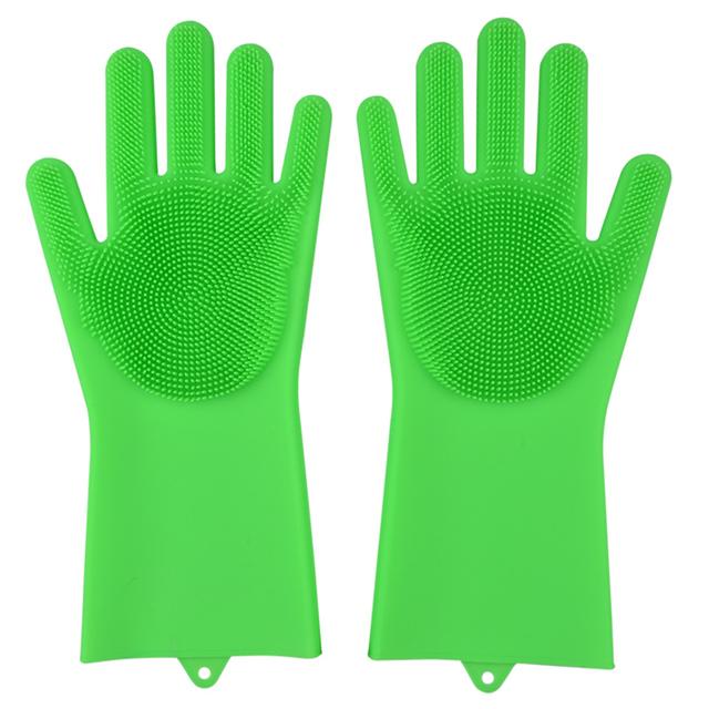 Reusable Silicone Dishwashing Gloves