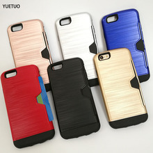Hybrid Tough Card slot Slider clip shield wallet Armor Phone cover coque case For Apple iphone 5 s 5S SE 6 6S 6plus 7 / 7 Plus